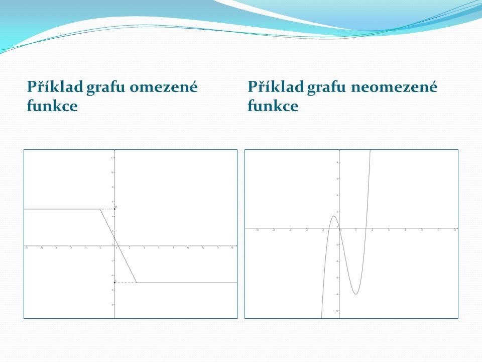 Příklad grafu omezené funkce Příklad grafu neomezené funkce
