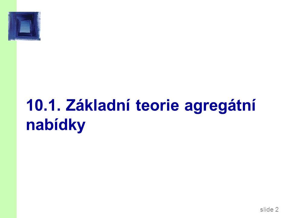 slide 2 10.1. Základní teorie agregátní nabídky