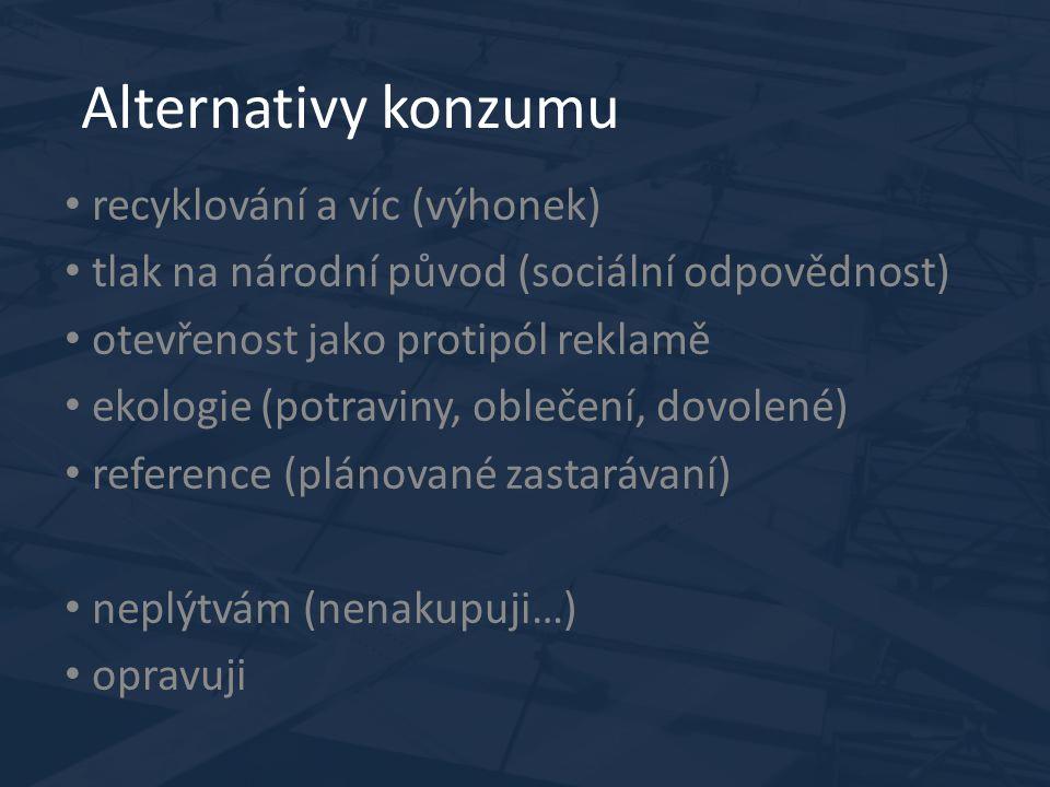Jaké jsou trendy v ČR? Cena Tlak na národní původ kombinovaný s BIO Dobré reference