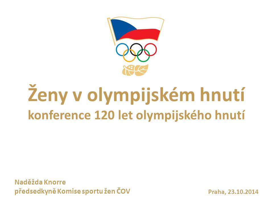 Ženy v olympijském hnutí konference 120 let olympijského hnutí Praha, 23.10.2014 Naděžda Knorre předsedkyně Komise sportu žen ČOV