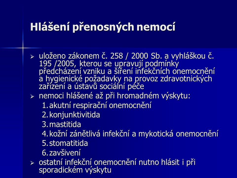 Výskyt IMO v MSK a Ostravě v letech 2000-2005 Rok Meningokok.men.