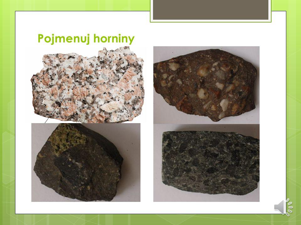 Podle způsobu vzniku rozlišujeme horniny:  vyvřelé  přeměněné  usazené