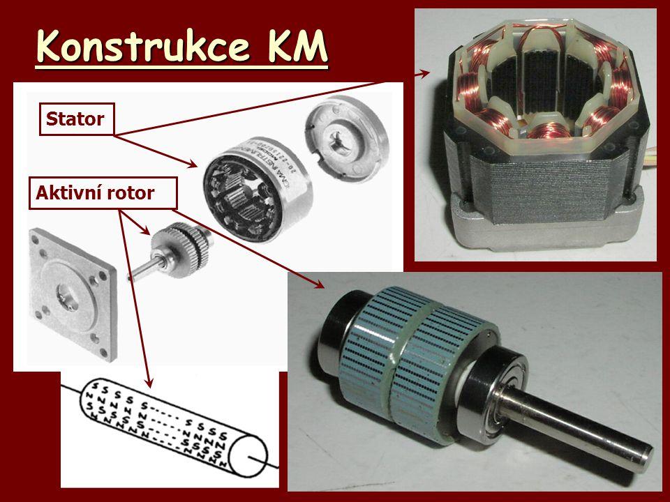 Konstrukce KM Aktivní rotor Stator