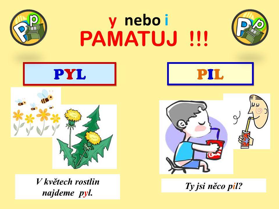 y nebo i PAMATUJ !!! PYLPYL PYLPYL PILPIL PILPIL V květech rostlin najdeme pyl. Ty jsi něco pil?