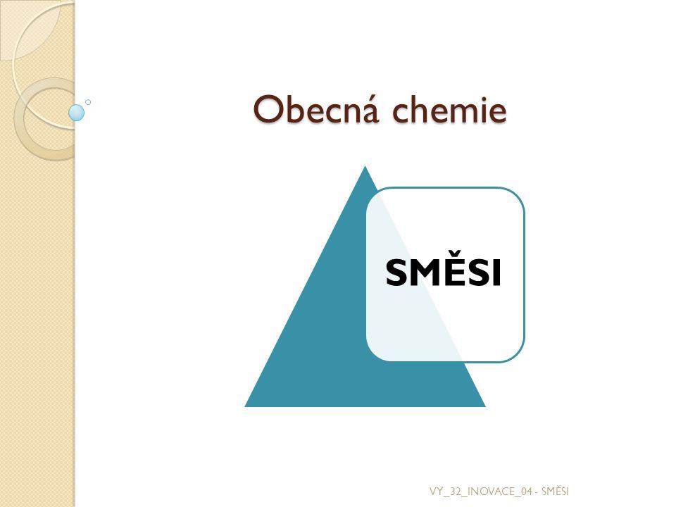 Směsi jsou látky, které se skládají ze dvou nebo více jednodušších chemických látek, které zde nazýváme složky.