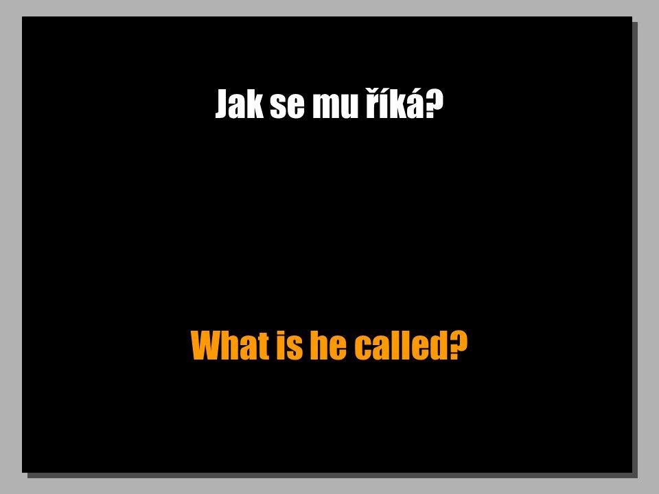 Jak se mu říká? What is he called?
