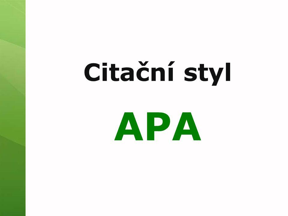 Citační styl APA