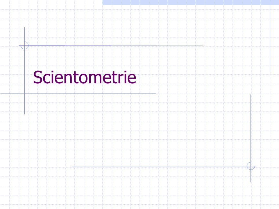 Scientometrie