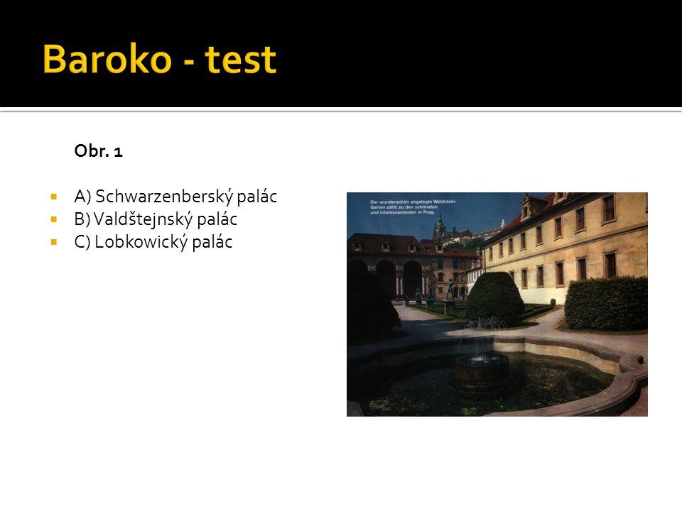 Obr. 1  A) Schwarzenberský palác  B) Valdštejnský palác  C) Lobkowický palác