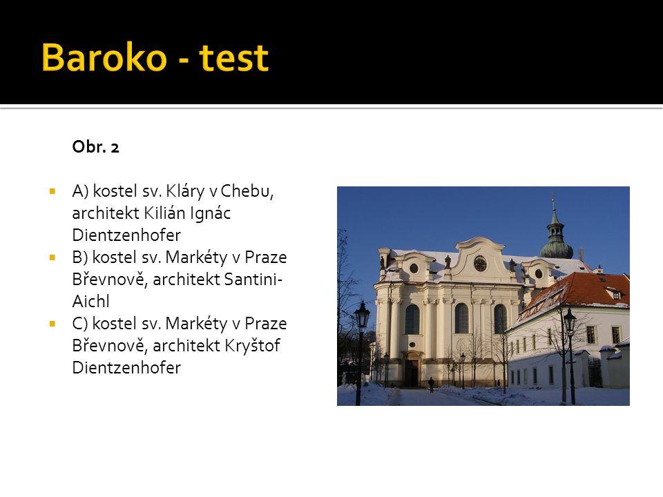 Obr. 3  A) Klementinum  B) Valdštejnský palác  C) Chrám sv. Mikuláše
