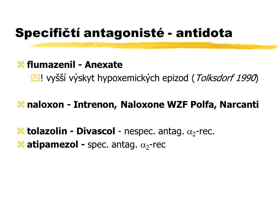 Specifičtí antagonisté - antidota zflumazenil - Anexate y.