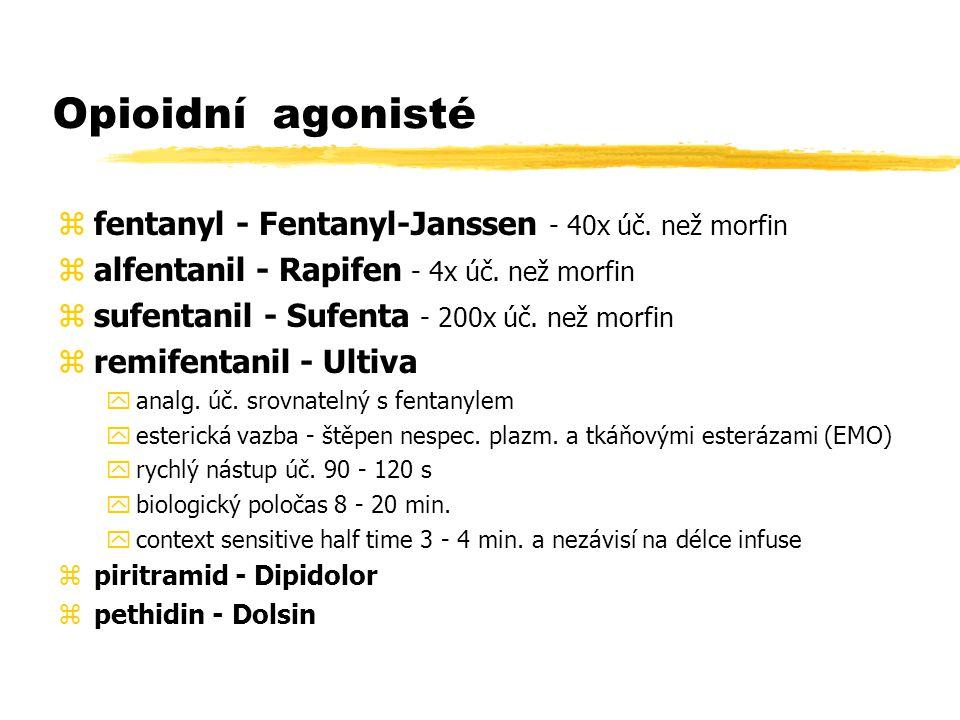 Opioidní agonisté zfentanyl - Fentanyl-Janssen - 40x úč.