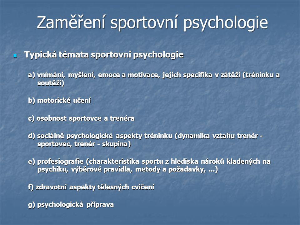 Absolvent oboru psychologie a pracuje v oblasti sportu (optimálně má osobní zkušenost s nějakým sportem, v něčem soutěžil nebo alespoň nějaký sport trénoval) Absolvent oboru psychologie a pracuje v oblasti sportu (optimálně má osobní zkušenost s nějakým sportem, v něčem soutěžil nebo alespoň nějaký sport trénoval) Absolvent FTVS, FTK nebo FSpS - oboru tělesná výchova, či výjimečně absolvent jiné vysoké školy s dalším postgraduálním vzděláním v kinantropologii se zaměřením na psychologii sportu.