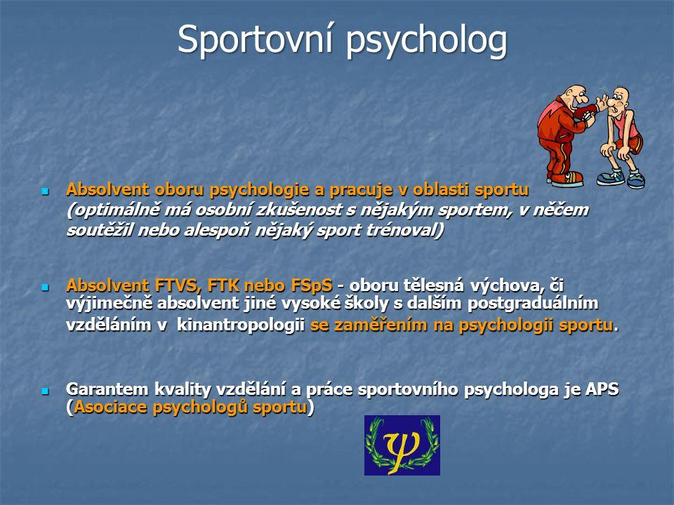 Společnosti zabývající se psychologií sportu APA – celosvětová asociace psych.