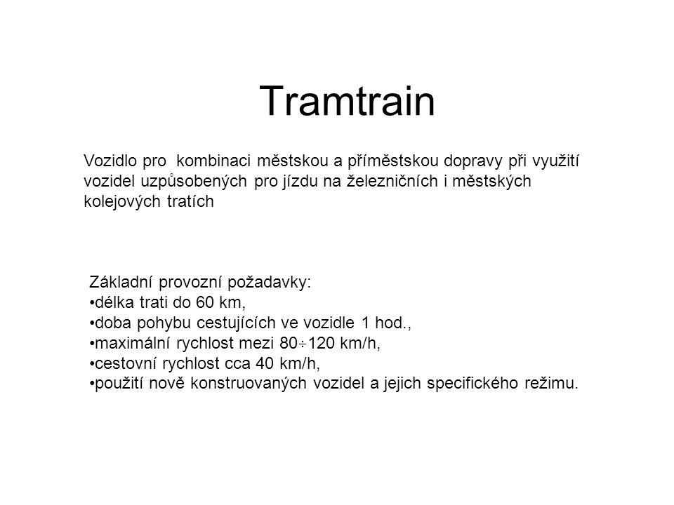 Obrysy pro vozidla typu tramtrain Vozidla typu tramtrain musejí svými rozměry splňovat současně podmínky dvou norem, : –která definuje obrysy železničních vozidel – která definuje obrysy tramvajových vozidel