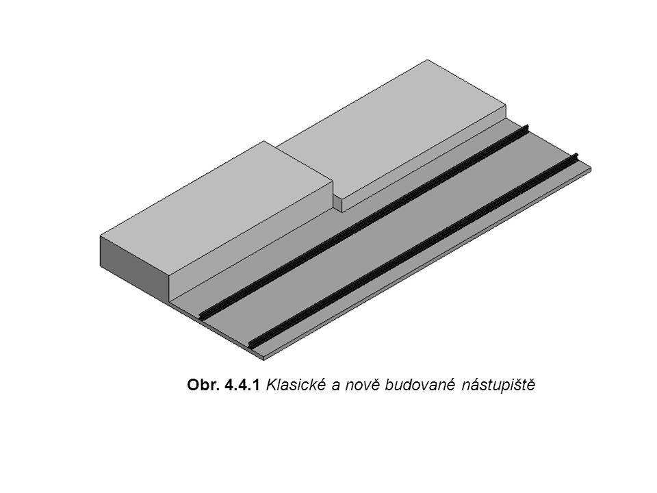 Obr. 4.4.1 Klasické a nově budované nástupiště