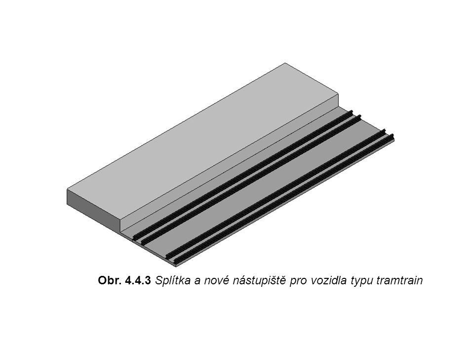 Obr. 4.4.3 Splítka a nové nástupiště pro vozidla typu tramtrain