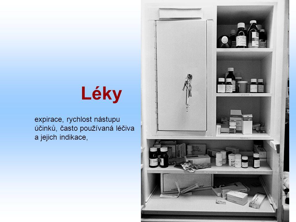 Léky expirace, rychlost nástupu účinků, často používaná léčiva a jejich indikace,