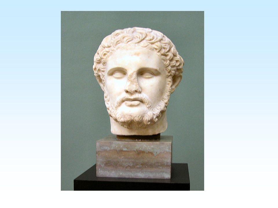 Makedonie Makedonie- země na sever od Řecka Moc- šlechta a král Filipp II. ( 359-336 př.n.l.) využil oslabení Sparty, Athén a Théb makedonský nástup p