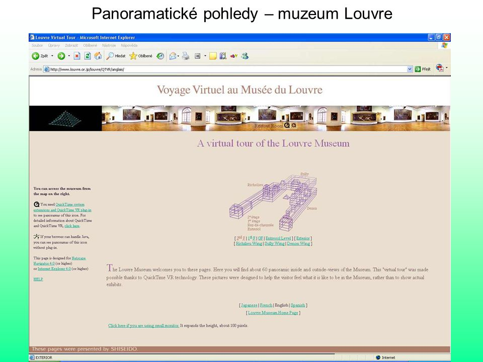 Panoramatické pohledy – muzeum Louvre