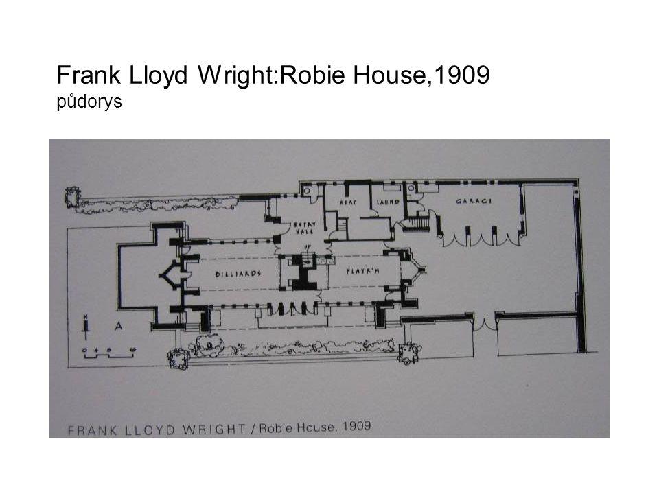 Frank Lloyd Wright:Robie House,1909 půdorys