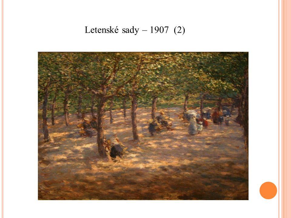 Letenské sady – 1907 (2)