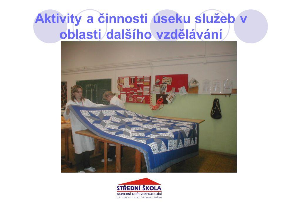 Aktivity a činnosti úseku služeb v oblasti dalšího vzdělávání