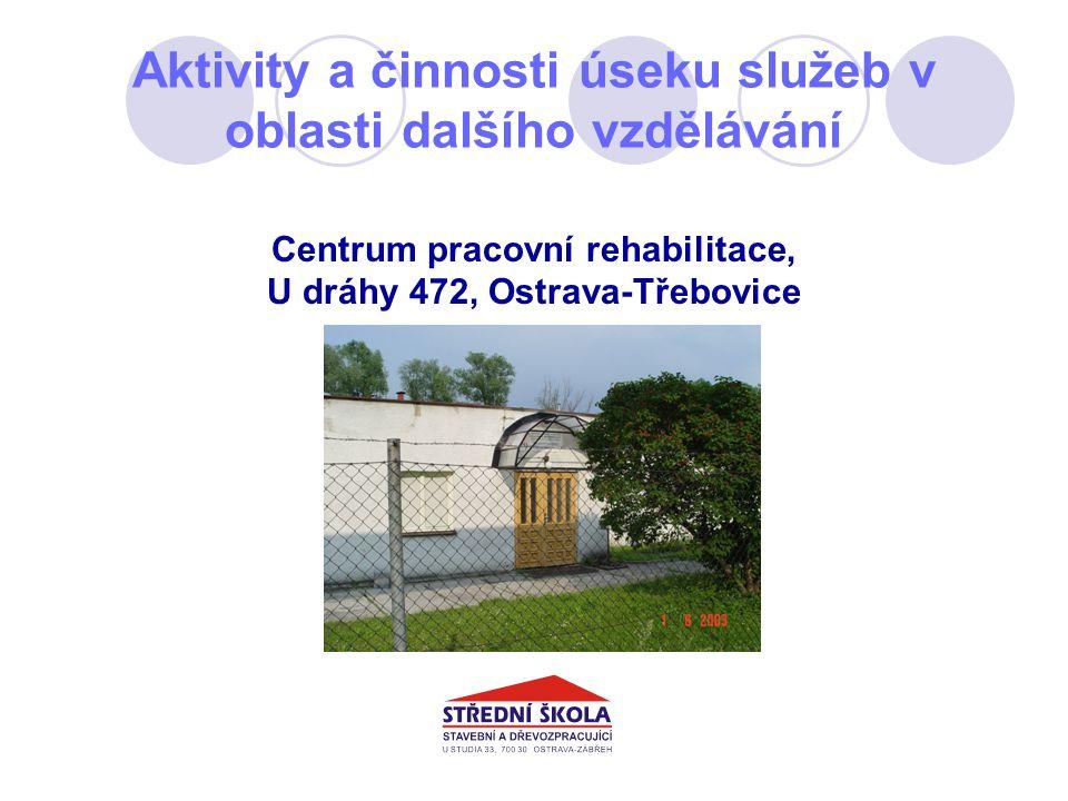 Aktivity a činnosti úseku služeb v oblasti dalšího vzdělávání Centrum pracovní rehabilitace, U dráhy 472, Ostrava-Třebovice