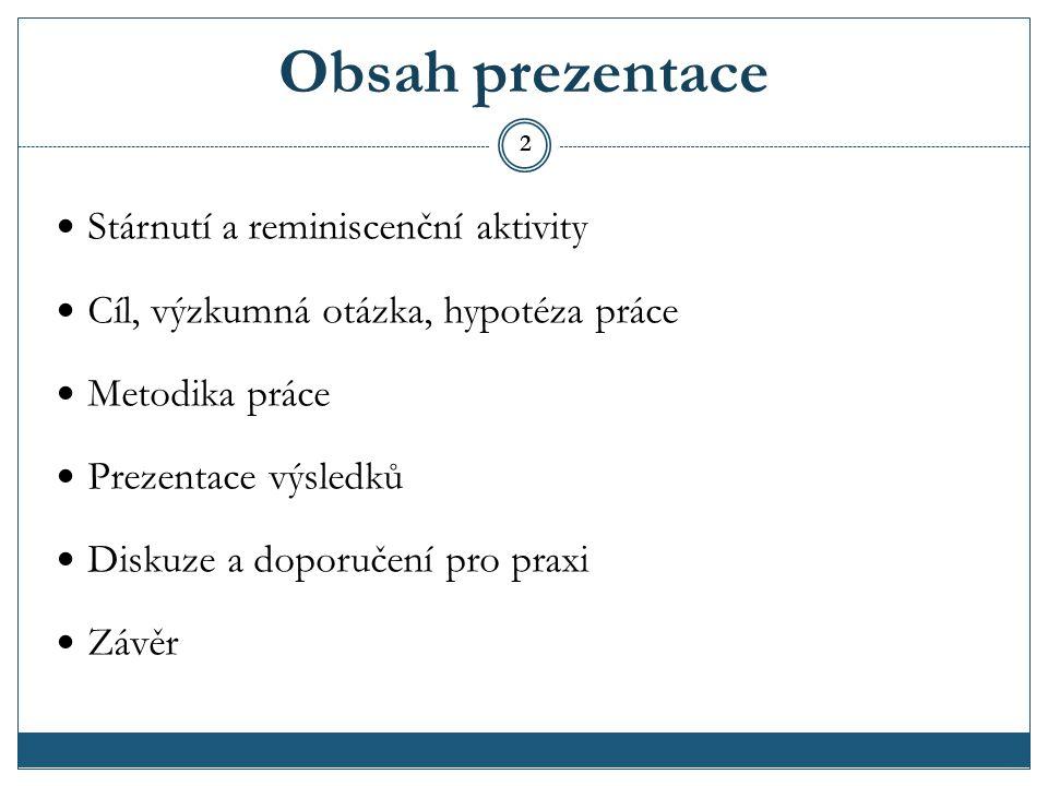 Stárnutí a stáří Území ČR ke dni 31.12.