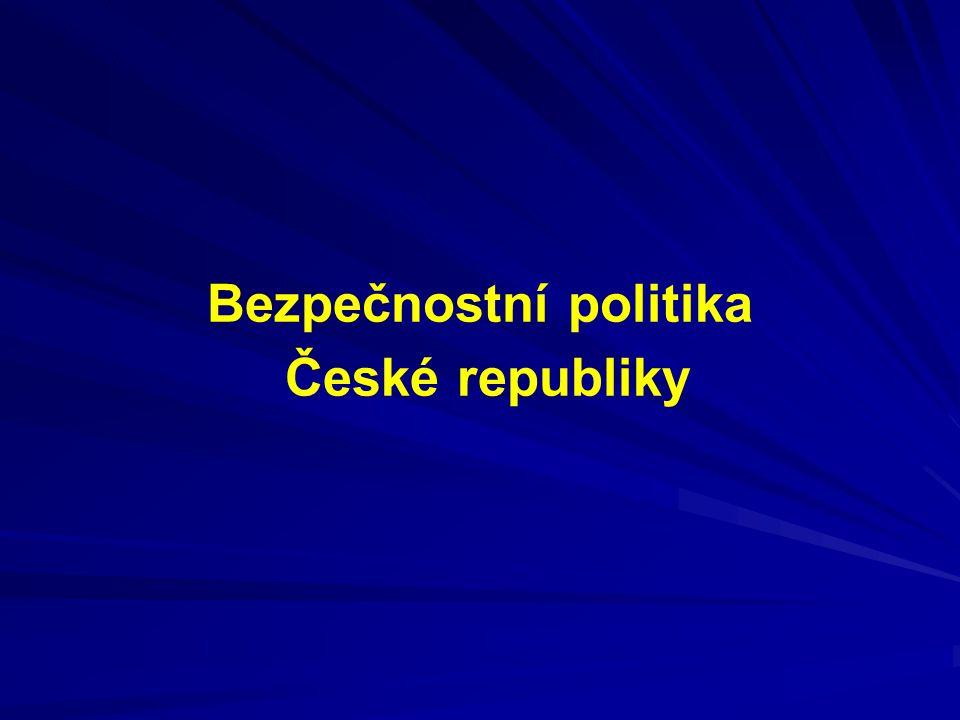 Předmět zájmu - vymezení pojmu Bezpečnostní strategie ČR - UV č.