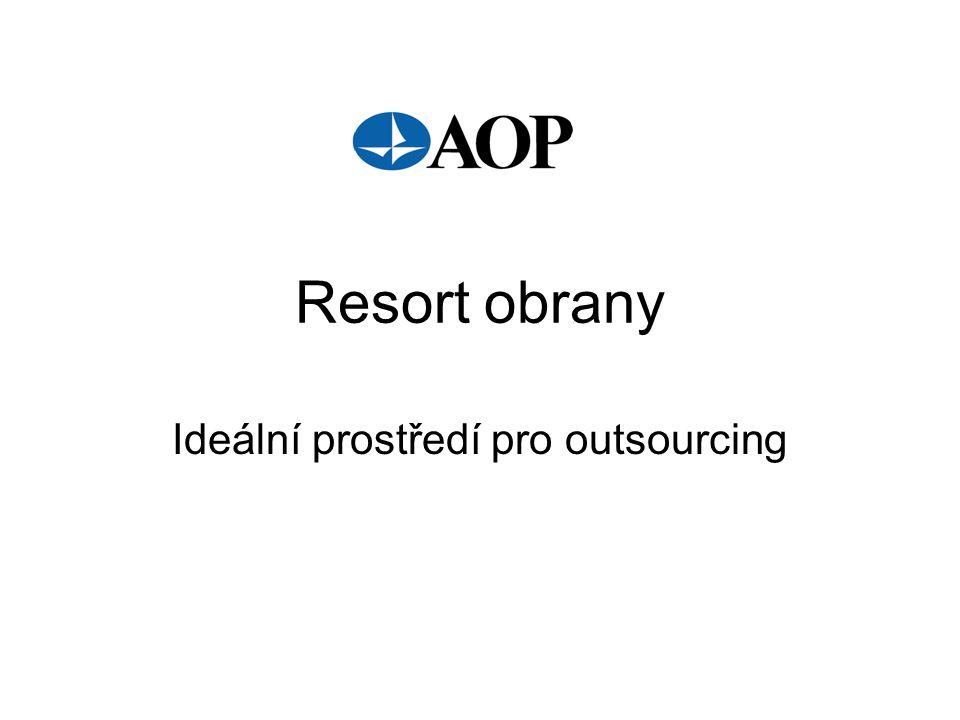 Resort obrany Ideální prostředí pro outsourcing