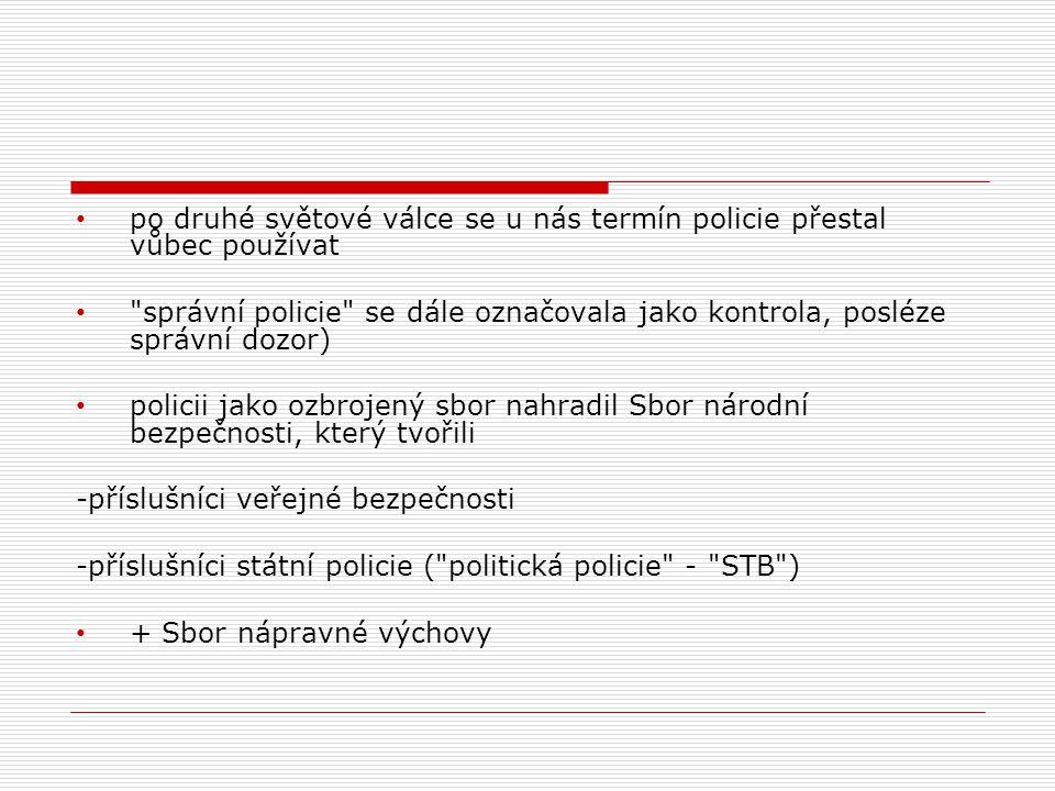 A.Činnost policie podle zákona o policii  policie slouží veřejnosti  (vazba na čl.