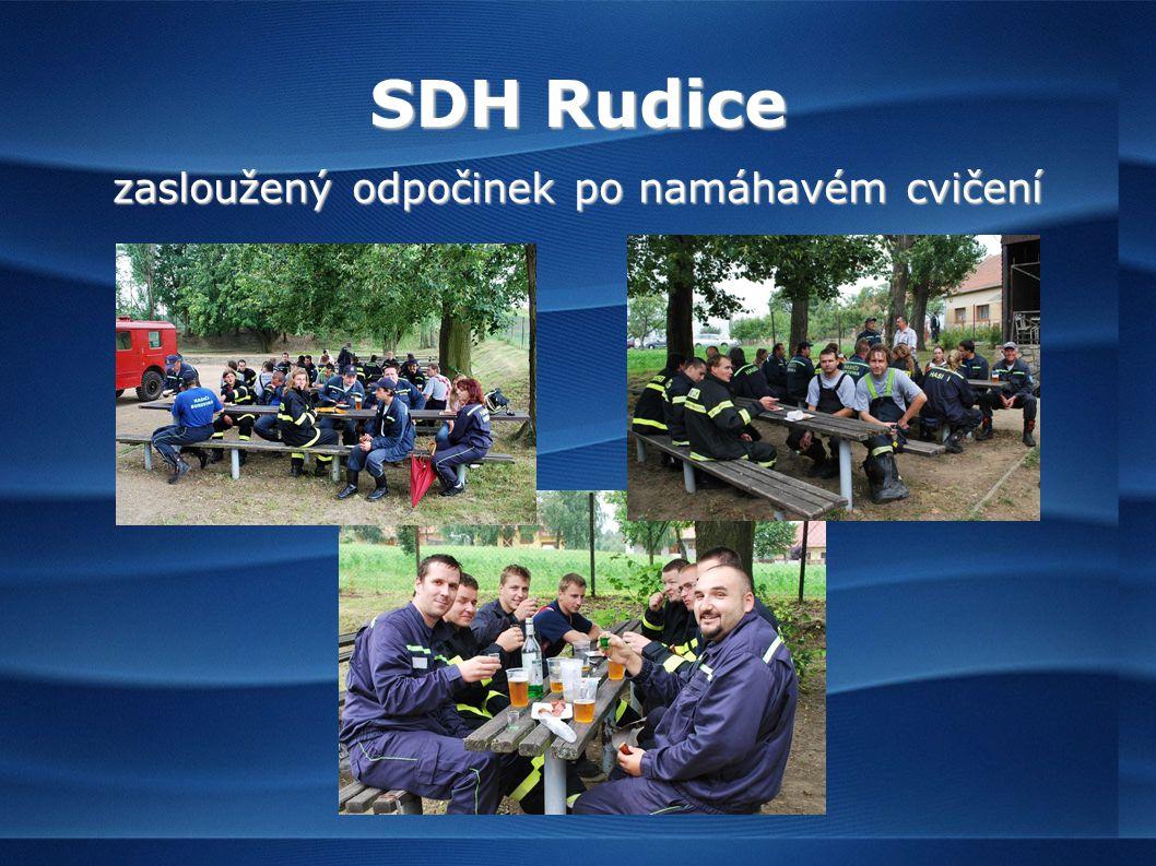 SDH Rudice zasloužený odpočinek po namáhavém cvičení