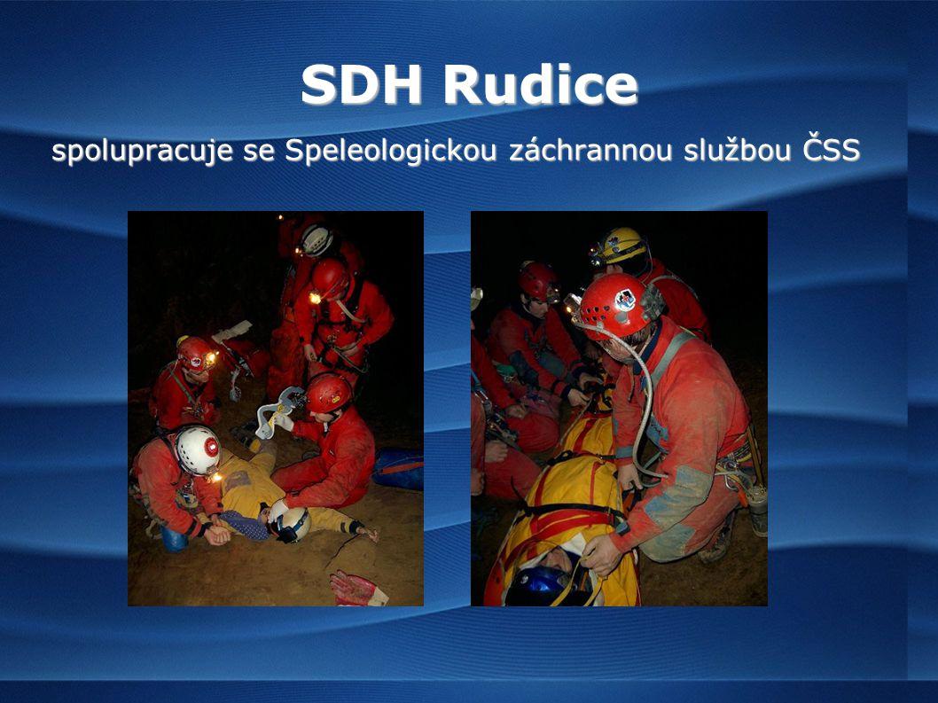 SDH Rudice spolupracuje se Speleologickou záchrannou službou ČSS