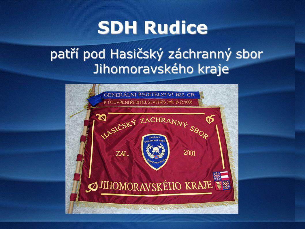 SDH Rudice patří pod Hasičský záchranný sbor Jihomoravského kraje