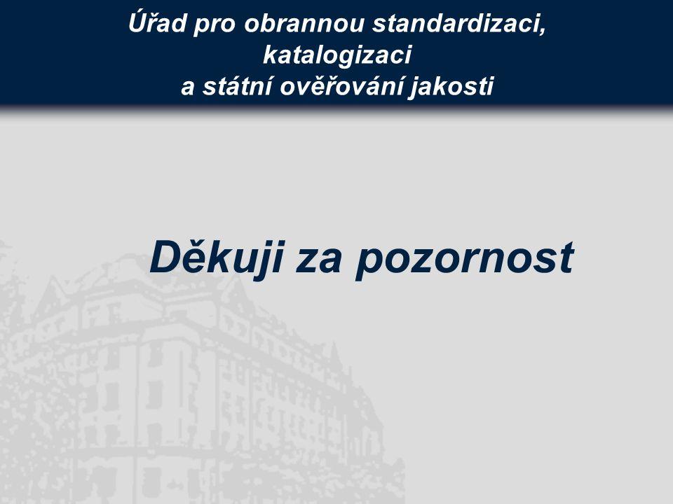 Úřad pro obrannou standardizaci, katalogizaci a státní ověřování jakosti Děkuji za pozornost