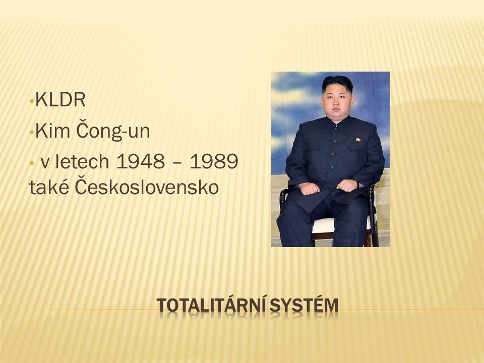KLDR Kim Čong-un v letech 1948 – 1989 také Československo