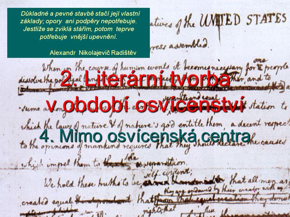 Projevy osvícenství v německé literatuře V 2.polovině 18.