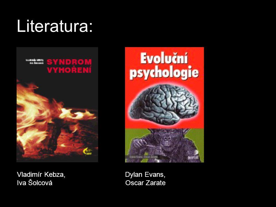 Literatura: Vladimír Kebza, Dylan Evans, Iva Šolcová Oscar Zarate