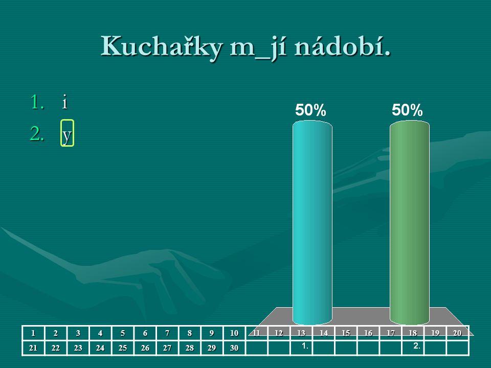 Kuchařky m_jí nádobí. 1.i 2.y 123456789101112131415161718192021222324252627282930
