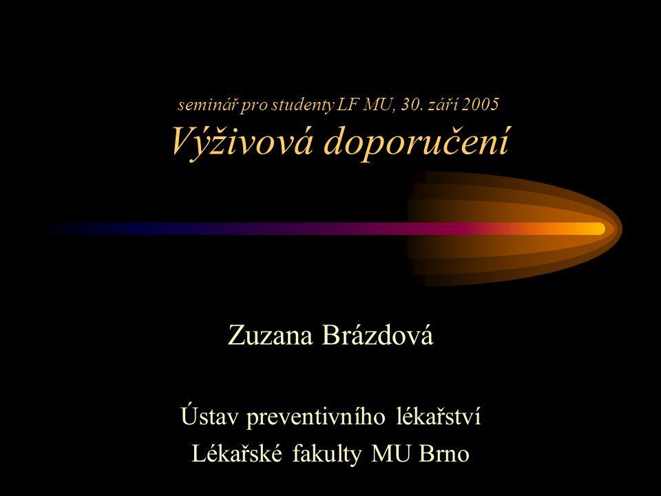 seminář pro studenty LF MU, 30.