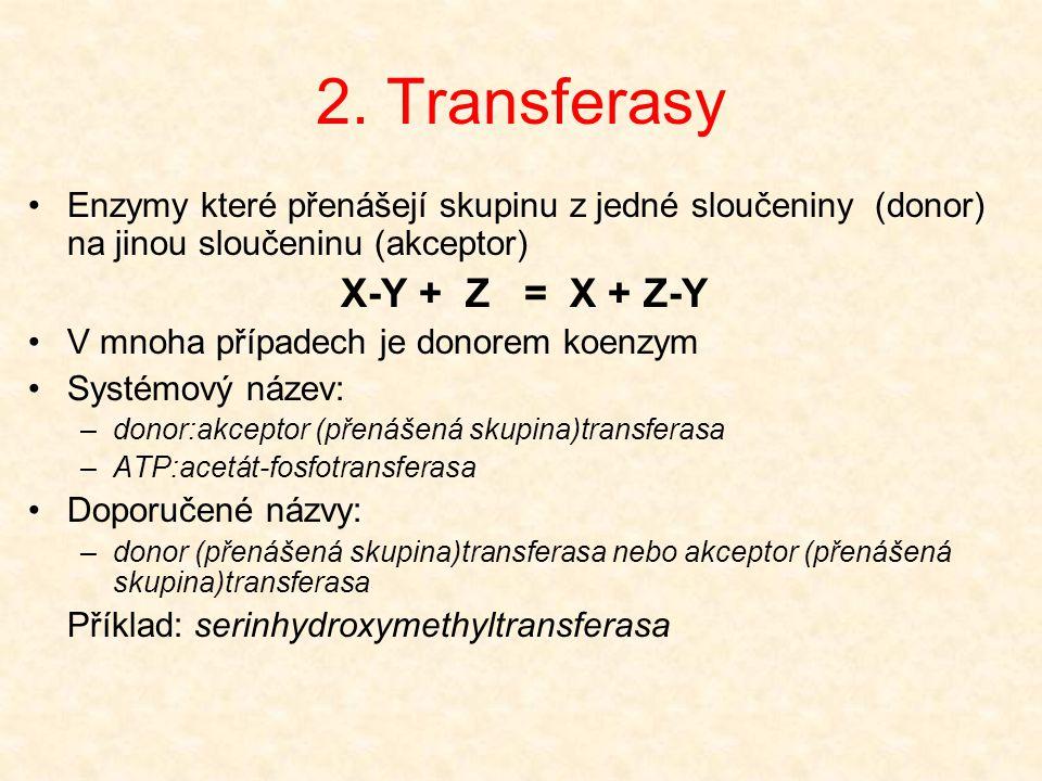 2.Transferasy EC čísla 2.x.x.x 2.