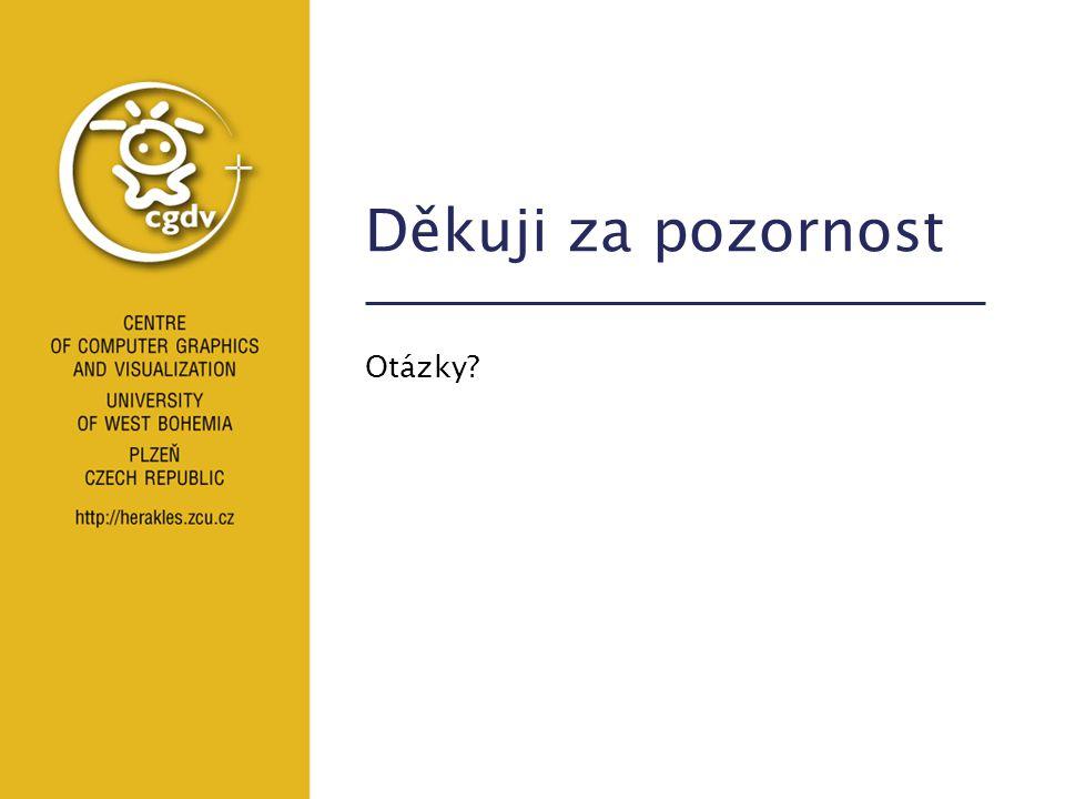 Spolupráce ČR-Slovinsko Starší publikační činnost Žalik B., Kolingerová I.: An Incremental Construction Algorithm for Delaunay Triangulation Based on Two-Level Uniform Subdivision, Contributions to Geometric Modelling and Multimedia, Vol.1, No.5, Maribor 2001 Žalik B., Kolingerová I.: A Cell-based Point-in-polygon Algorithm Suitable for Large Sets of Points, Computers and Geosciences, Vol.
