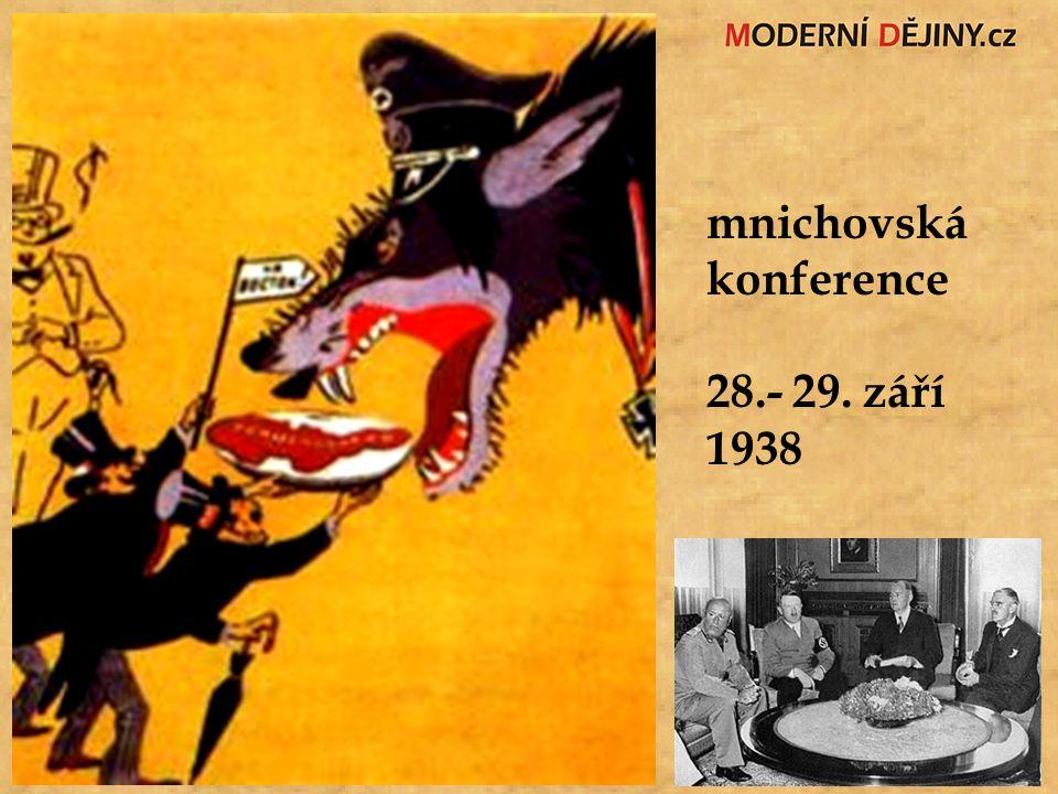 mnichovská konference 28.- 29. září 1938
