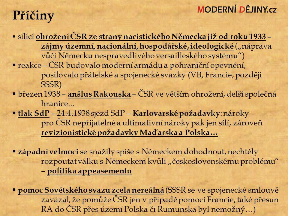 Důsledky územní a etnické  dohoda ultimativně nařizovala ČSR, aby odstoupilo pohraniční, tzv.