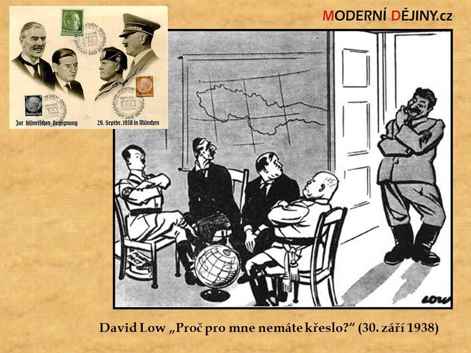 """David Low """"Proč pro mne nemáte křeslo?"""" (30. září 1938)"""