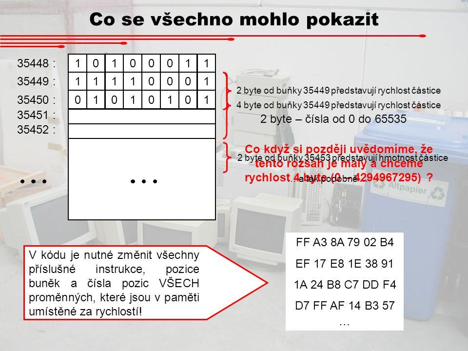 Co všechno se mohlo pokazit Na starých počítačích pracovali pouze určení operátoři a programovali požadavky uživatelů.