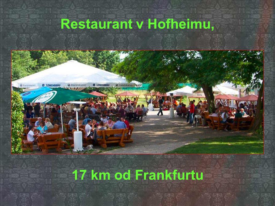 Restaurant v Hofheimu, 17 km od Frankfurtu
