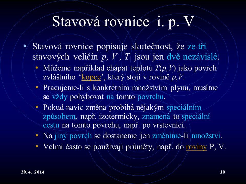 29.4. 201410 Stavová rovnice i. p.
