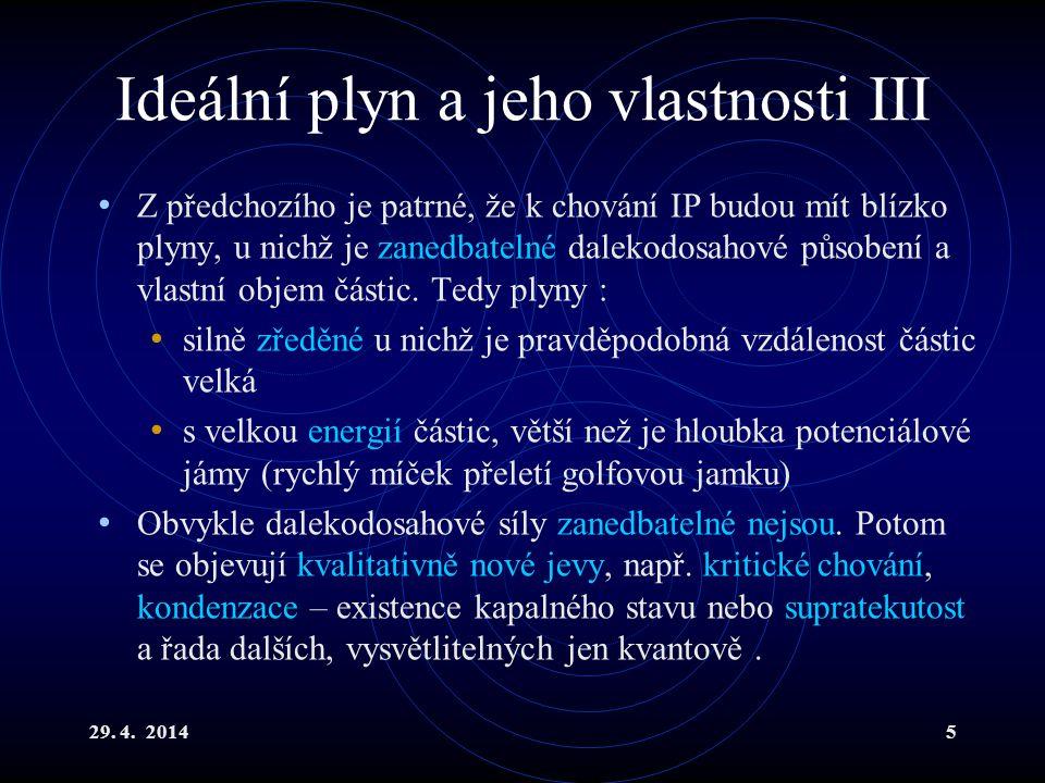 29.4. 20146 Stavová rovnice i.p.